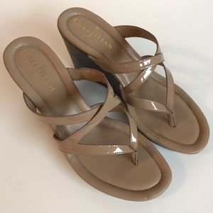 Cole Haan Nike Air Strappy Wedge Sandals Size 6.5